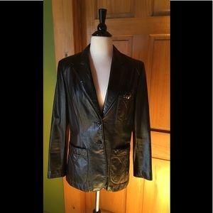 💥Vintage Etienne Aigner leather jacket-RARE black